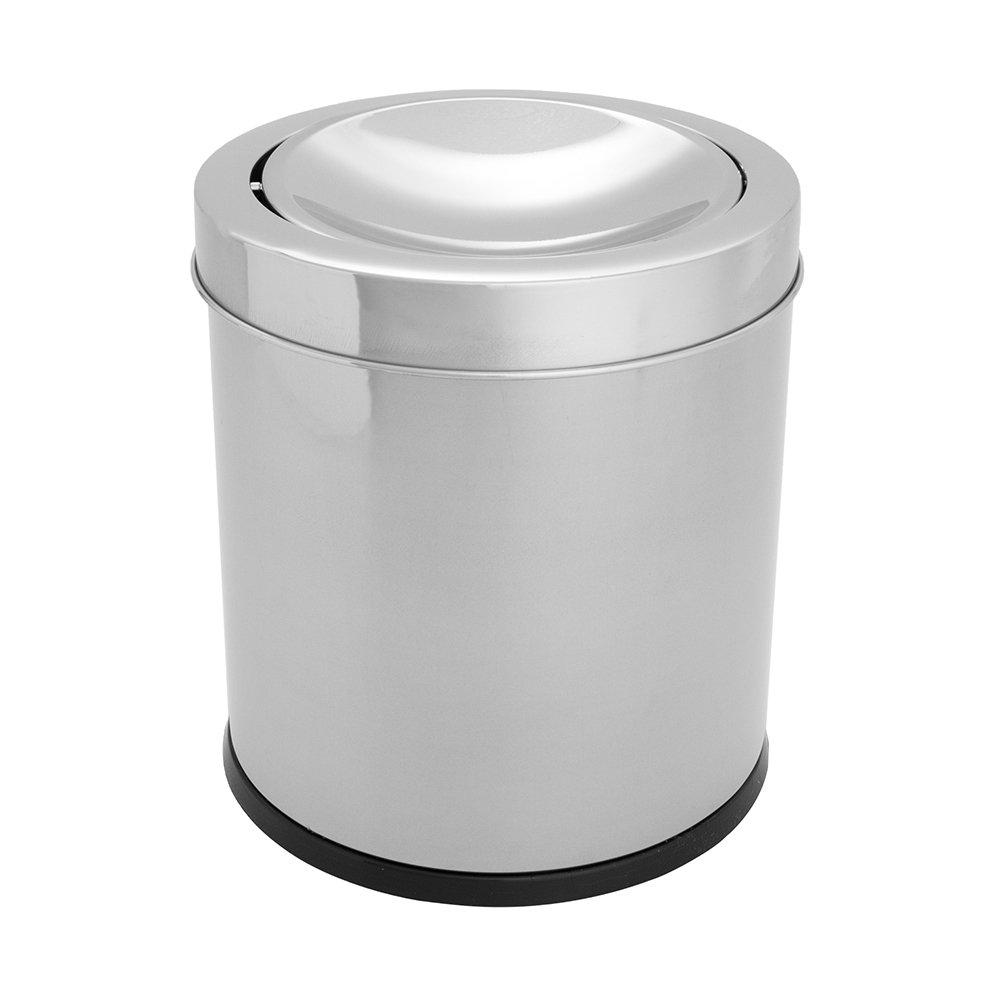 Lixeira Inox Decorline Basculante 5,4 Litros - Brinox