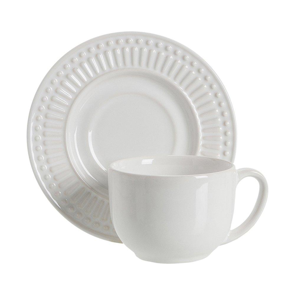 Xícara de Chá Roma Branco 160 ml - Porto Brasil