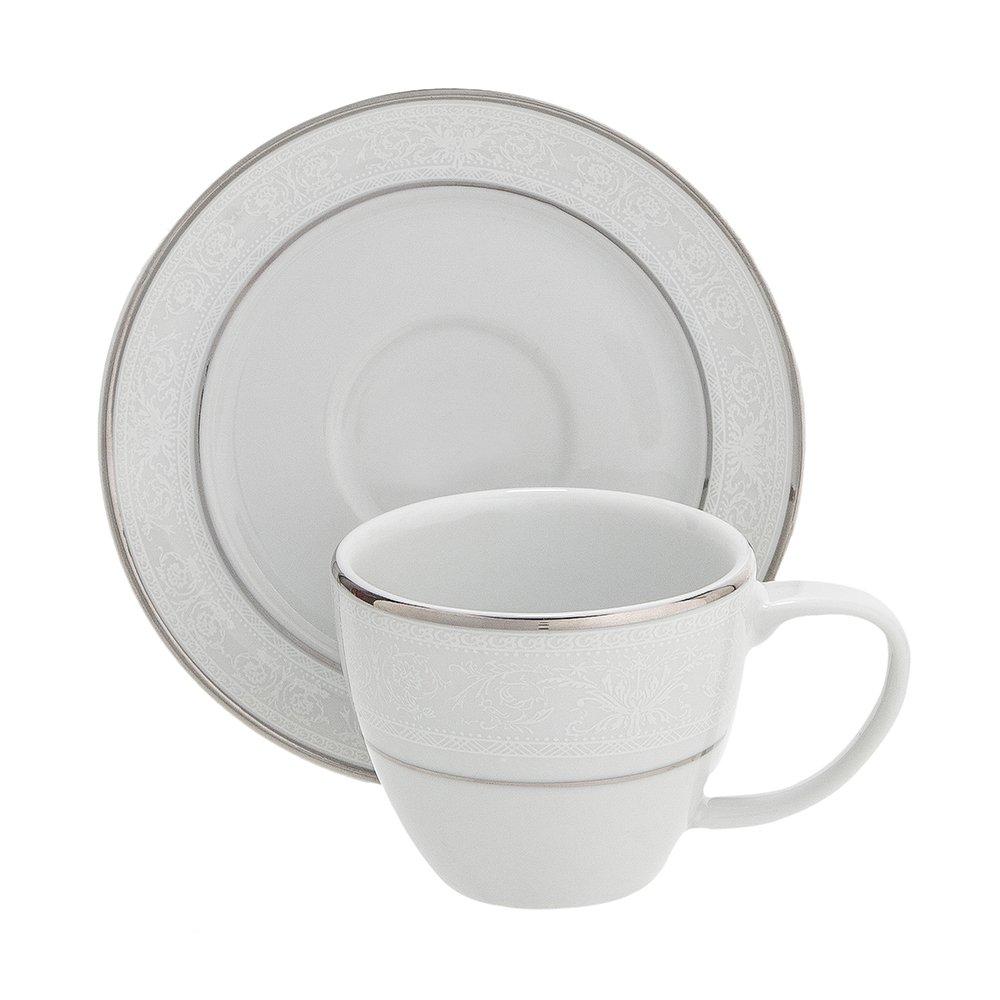 Xícara de Café Porcelana Versa Cristal Branco - Home Style