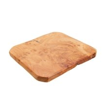 Base Decorativa Rustic Wood Natural 25 cm x 23 cm - Home Style