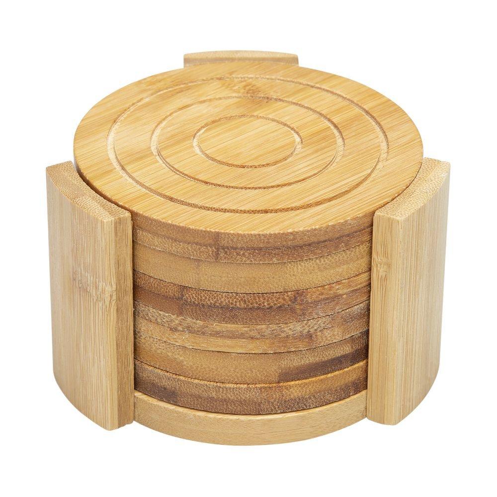 Jogo de Porta-Copos Bambus Circle 6 Peças - Home Style