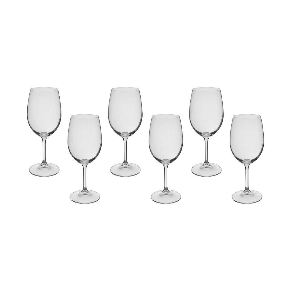 Jogo de Taças de Vinho Roberta Cristal 350 ml 6 Peças - Bohemia