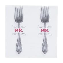 Guardanapo de Papel Mr Fork 33 cm x 33 cm c/20 - Home Style