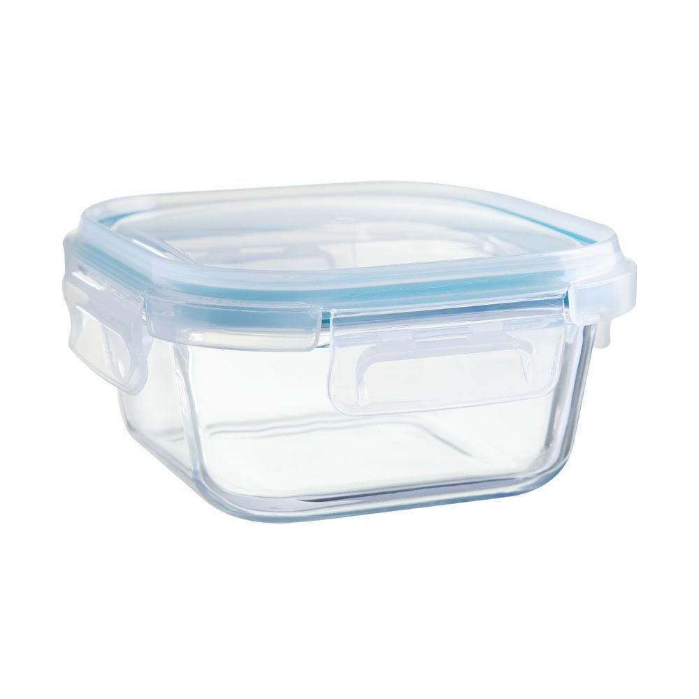 Pote Hermético Quadrado Cloc Glass My Storage 520 ml - Neoflam