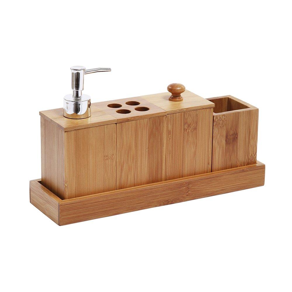 Jogo Para Banheiro Bambus 5 peças