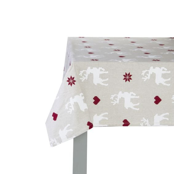 Toalha de Mesa Retangular Jingle Hearts 1,60 m x 2,20 m - Home Style