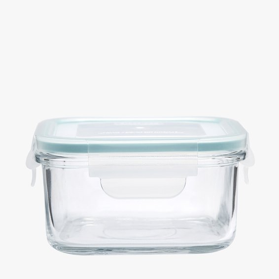 Pote Hermético Quadrado Cloc Glass My Storage 480 ml - Neoflam