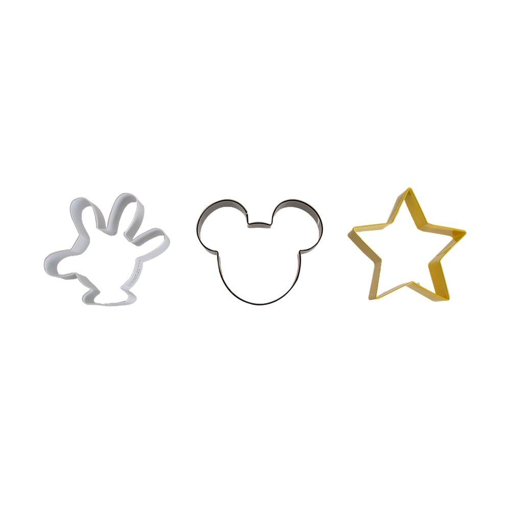 Jogo de Cortadores de Biscoito Mickey 3 Peças - Home Style