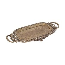Bandeja Decorativa Glam Gold Elysee 38 cm 17 cm – Home Style