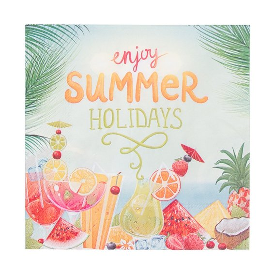 Guardanapode Papel Tropicool Holidays 33 cm x 33 cm c/ 20 - Home Style