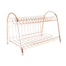Escorredor de Pratos Rose Gold 40 cm x 27 cm