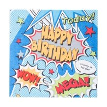 Guardanapo de Papel B-Day 33 cm x 33 cm c/20 - Paper+Design