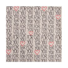 Guardanapo de Papel Recycled Love 33 cm x 33 cm c/ 25 - Home Style