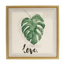 Quadro Leaves and Love 40 cm x 40 cm