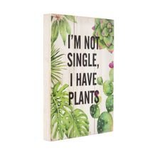 Placa Decorativa Rustic Wood Plants 25 cm x 35 cm