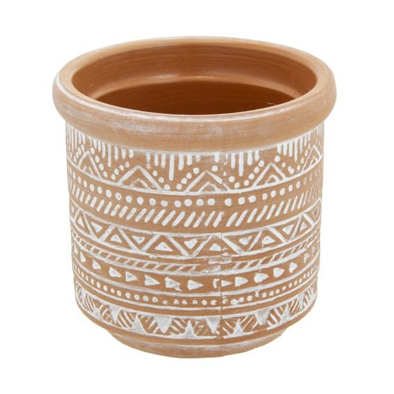 Vaso Cerâmica Terracota Fat Edge 8 x 7,5 cm - Home Style
