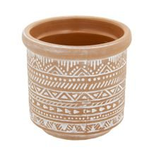 Vaso Cerâmica Terracota Fat Edge 10 cm x 9 cm - Home Style