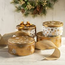Fita Decorativa de Natal Fantasy Golden Stripes - Home Style