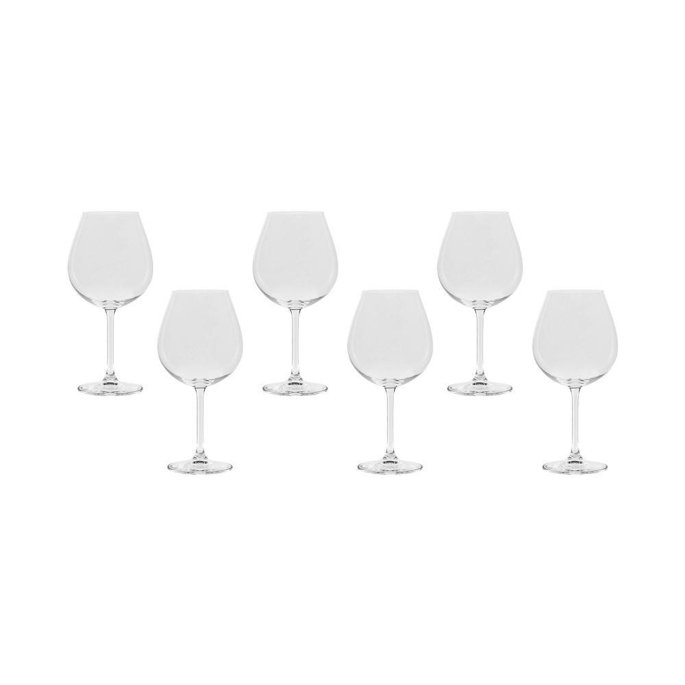 Jogo de Taça de Vinho Borgonha Gastro 650 ml 6 Peças - Bohemia