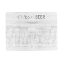 Lugar Americano Types Of Beer 30 cm x 40 cm - Home Style