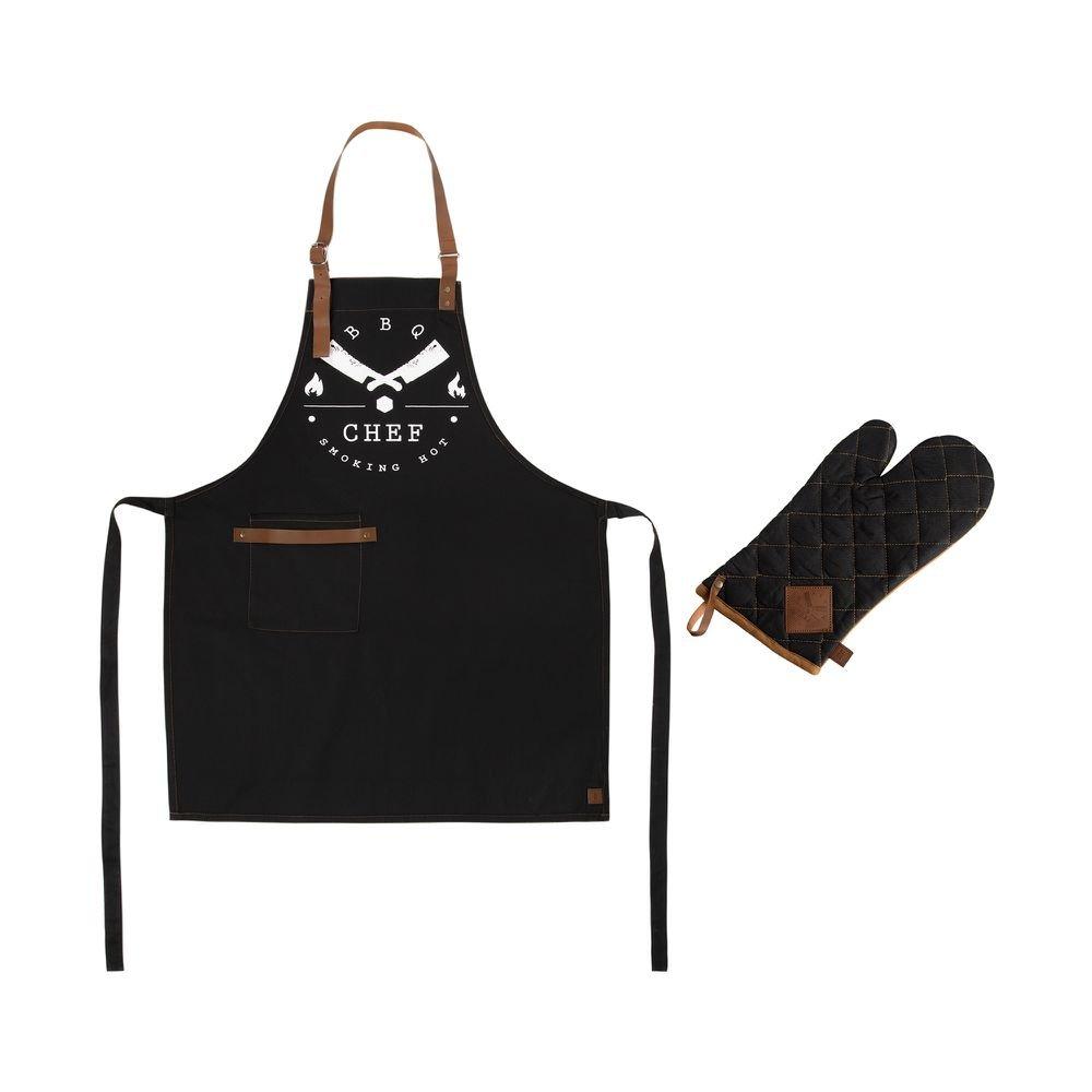 Jogo de Avental e Luva BBQ Chef 2 Peças