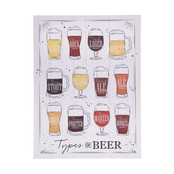 Tela Decorativa Types Of Beers 30 cm x 40 cm