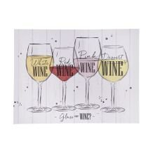 Tela Decorativa Wines 30 cm x 40 cm