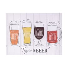 Tela Decorativa Cups of Beer 30 cm x 40 cm