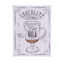 Tela Decorativa Chocolate Milk 30 cm x 40 cm