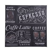Tela Decorativa Expresso Coffee 30 cm x 30 cm