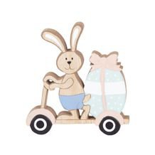 Adorno Funny Bunny Scooter 13 cm x 14 cm - Home Style