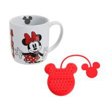 Kit Caneca Minnie 360 ml + Infusor de Chá - Home Style